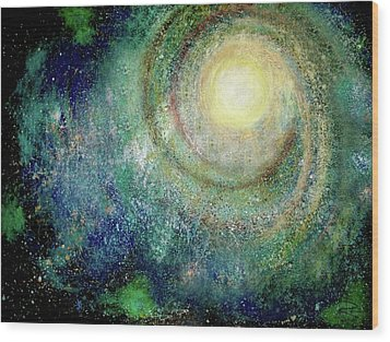 Cosmic Breath Wood Print by NARI - Mother Earth Spirit