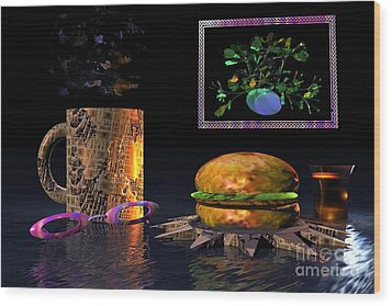 Cosmic Burger Wood Print