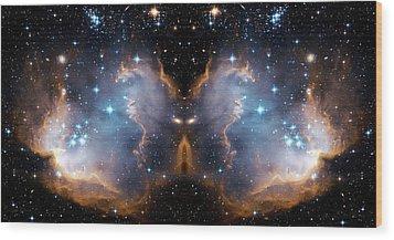 Cosmic Butterfly Wood Print by Jennifer Rondinelli Reilly - Fine Art Photography