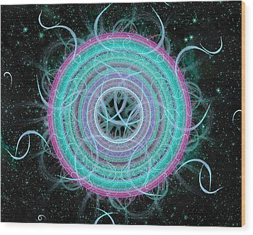 Cosmic Circle Wood Print by Shawn Dall