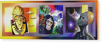 Cosmic Citizen Wood Print by Hartmut Jager