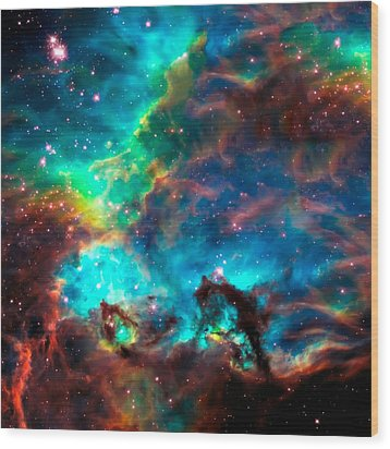 Cosmic Cradle 2 Star Cluster Ngc 2074 Wood Print