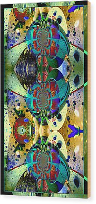 Wood Print featuring the photograph Cosmic Cuckoo Clock by Robert Kernodle