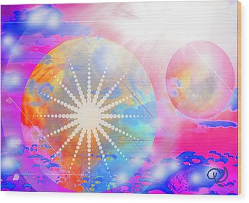 Cosmic Delight Wood Print by Ute Posegga-Rudel