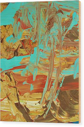 Cosmic Energy Wood Print by Artist Ai