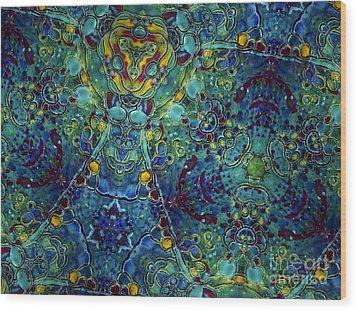 Cosmic Flow Wood Print