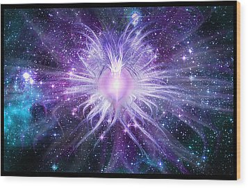 Cosmic Heart Of The Universe Wood Print by Shawn Dall