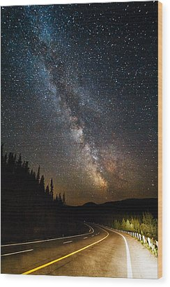 Cosmic Highway Wood Print