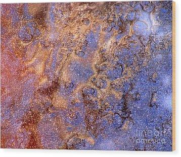 Cosmic Ice Wood Print