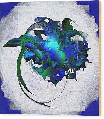Cosmic Jewels On A Cloud Wood Print by Linda Phelps