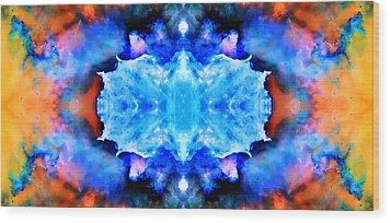 Cosmic Kaleidoscope 1 Wood Print by Jennifer Rondinelli Reilly - Fine Art Photography