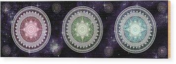 Cosmic Medallians Rgb 2 Wood Print