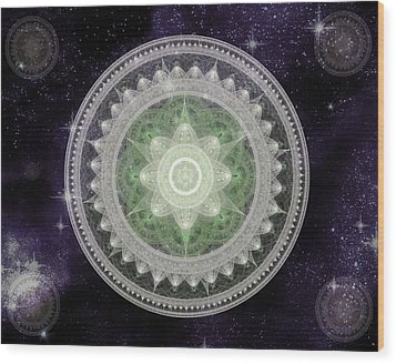 Cosmic Medallions Earth Wood Print