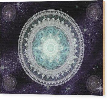 Cosmic Medallions Water Wood Print