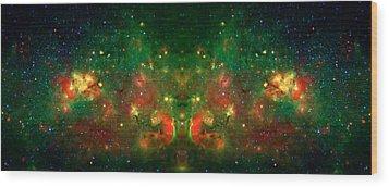 Cosmic Reflection 1 Wood Print by Jennifer Rondinelli Reilly - Fine Art Photography