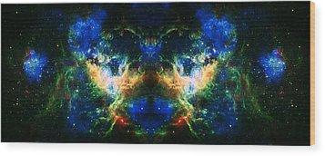 Cosmic Reflection 2 Wood Print by Jennifer Rondinelli Reilly - Fine Art Photography