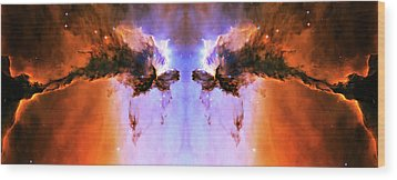 Cosmic Release Wood Print by Jennifer Rondinelli Reilly - Fine Art Photography