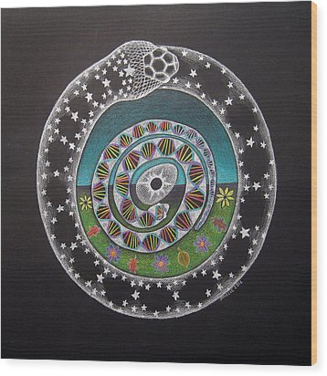 Cosmic Serpent Color Wood Print