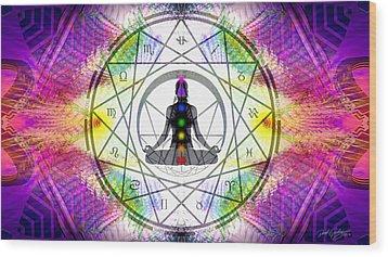 Cosmic Spiral Ascension 14 Wood Print by Derek Gedney