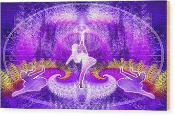 Cosmic Spiral Ascension 27 Wood Print by Derek Gedney