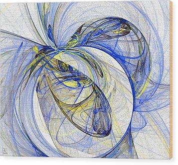 Cosmic Web 5 Wood Print by Jeanne Liander