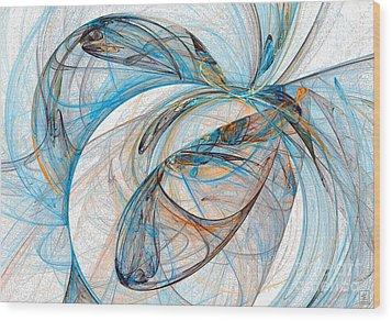 Cosmic Web 6 Wood Print by Jeanne Liander