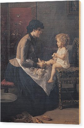 Cosola Demetrio, The Toilet Wood Print by Everett