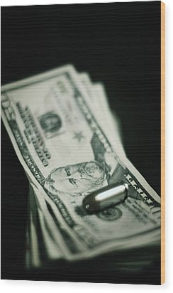 Cost Of One Bullet Wood Print