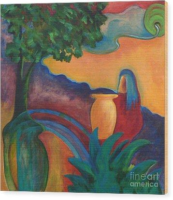 Costa Mango II Wood Print by Elizabeth Fontaine-Barr
