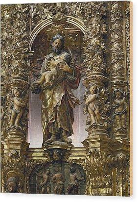 Costa, Pablo 1672-1728. Main Altarpiece Wood Print by Everett