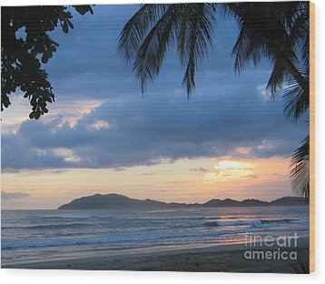 Wood Print featuring the photograph Costa Rica Sunset by Shelia Kempf