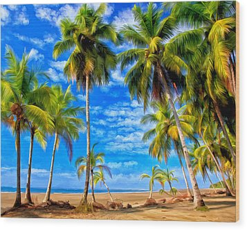 Wood Print featuring the painting Costa Rican Paradise by Michael Pickett