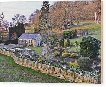Cotswold Cottage Wood Print