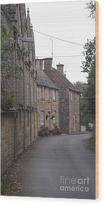 Cotswold Cottages Wood Print by John Williams