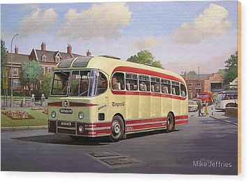 Cotswold Tour 1957 Wood Print by Mike  Jeffries