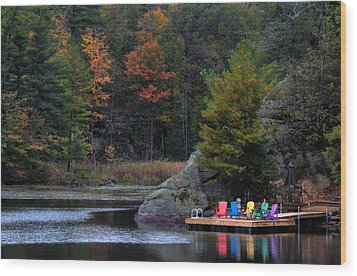 Cottage Country Wood Print by Jim Vance