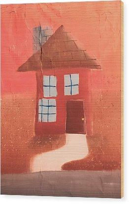 Cottage Wood Print by Joshua Maddison