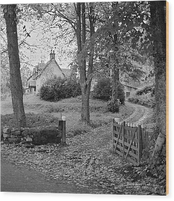 Wood Print featuring the photograph Cottage On Loch Ness - Scotland 1972 - Travel Photography By David Perry Lawrence by David Perry Lawrence