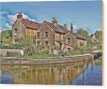 Cottages At Avoncliff Wood Print by Paul Gulliver