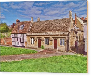Wood Print featuring the photograph Cottages Devizes -2 by Paul Gulliver
