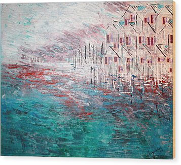 Cottages On The Bay  Wood Print