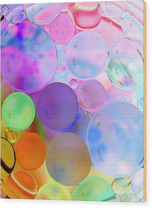 Cotton Candy Bubbles Wood Print by Christine Ricker Brandt