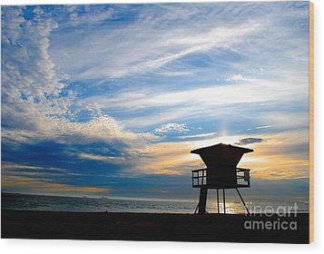 Wood Print featuring the photograph Cotton Candy Sky by Margie Amberge
