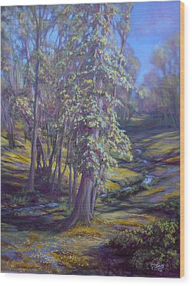 Cottonwoods Wood Print by Charles Smith