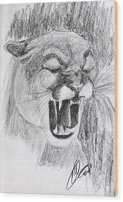 Cougar 2 Wood Print