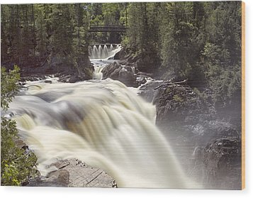 Coulonge Falls Wood Print by Eunice Gibb