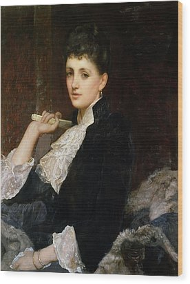 Countess Of Airlie Wood Print by Sir William Blake Richmond