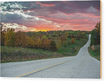 Country Back Roads - Northwest Arkansas Wood Print