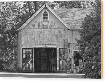 Country - Barn Country Maintenance Wood Print by Mike Savad