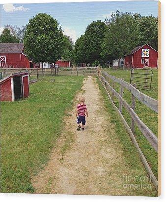 Country Boy Wood Print
